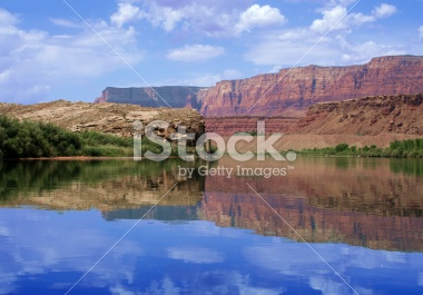 Reflection of canyon wall, Colorado River in Glen Canyon