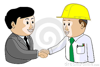 Businessman and Engineer Agree Illustration