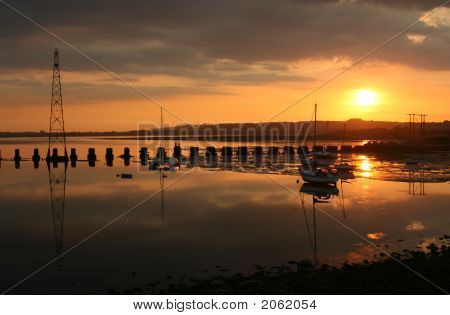 Sunset over Langstone Harbour
