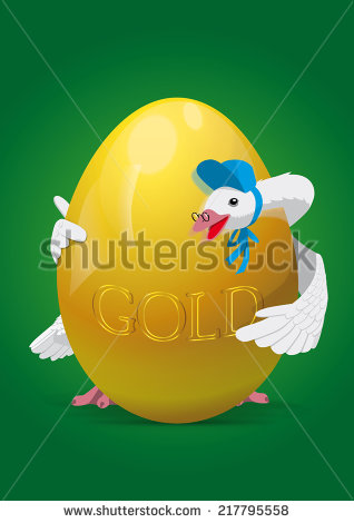 Mother Goose with Golden Egg Illustration/Clip Art