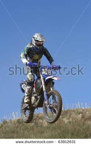 Motocross motorcycle jump