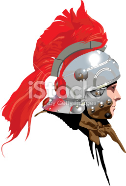 Roman Soldier (Centurion) with plumed helmet : Illustration